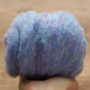 Cornflower Blue Needle Felting Wool, Wool Batting, Batts, Wet Felting, Spinning, Dyed Felting Wool, Light Blue, Fiber Art Supplies