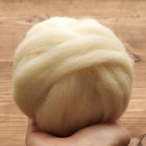 Ecru Wool Roving for Needle Felting, Wet Felting, Spinning, Undyed Felting Wool, Natural White, Ivory, Weaving, Fiber Art Supplies