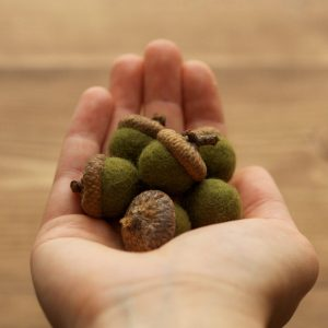 Felted Acorns, Olive Green, Nature Inspired Home Decor, Spring, Summer, Fall, Outdoor Wedding, Rustic, Favors