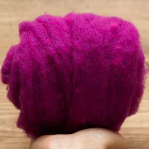 Magenta Needle Felting Wool, Wool Batting, Batts, Wet Felting, Spinning, Dyed Felting Wool, Fiber Art Supplies