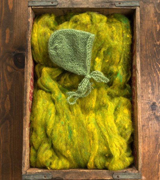 Wool Fluff Basket Stuffer, Photography Prop, Golden Pear, Spring Green, Citron, Textured Wool Batting, Childrens Photo Prop, Natural, Fleece