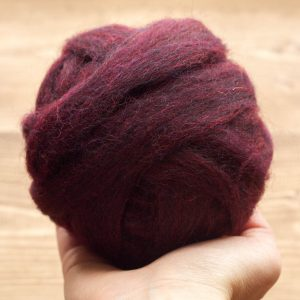 Wool Roving for Needle Felting in Mulberry, Plum, Dark Purple, Eggplant, Wet Felting, Spinning, Dyed Felting Wool, Fiber Art Supplies