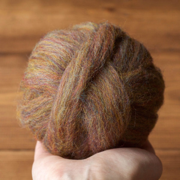 Wool Roving Supply, Needle Felting Wool in Autumn Jasper Brown, Opal, Rainbow, Wet Felting, Spinning, Chunky Yarn, DIY, Felt, Fiber Arts