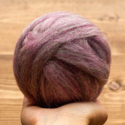 Amethyst Purple Wool Roving for Needle Felting, Wet Felting, Heather Purple, Spinning, Dyed Felting Wool, Fiber Art Supplies, DIY, Weaving