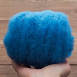 Azure Blue Needle Felting Wool, Wool Batting, Batts, Wet Felting, Spinning, Dyed Felting Wool, Sky Blue, Fiber Art Supplies, DIY