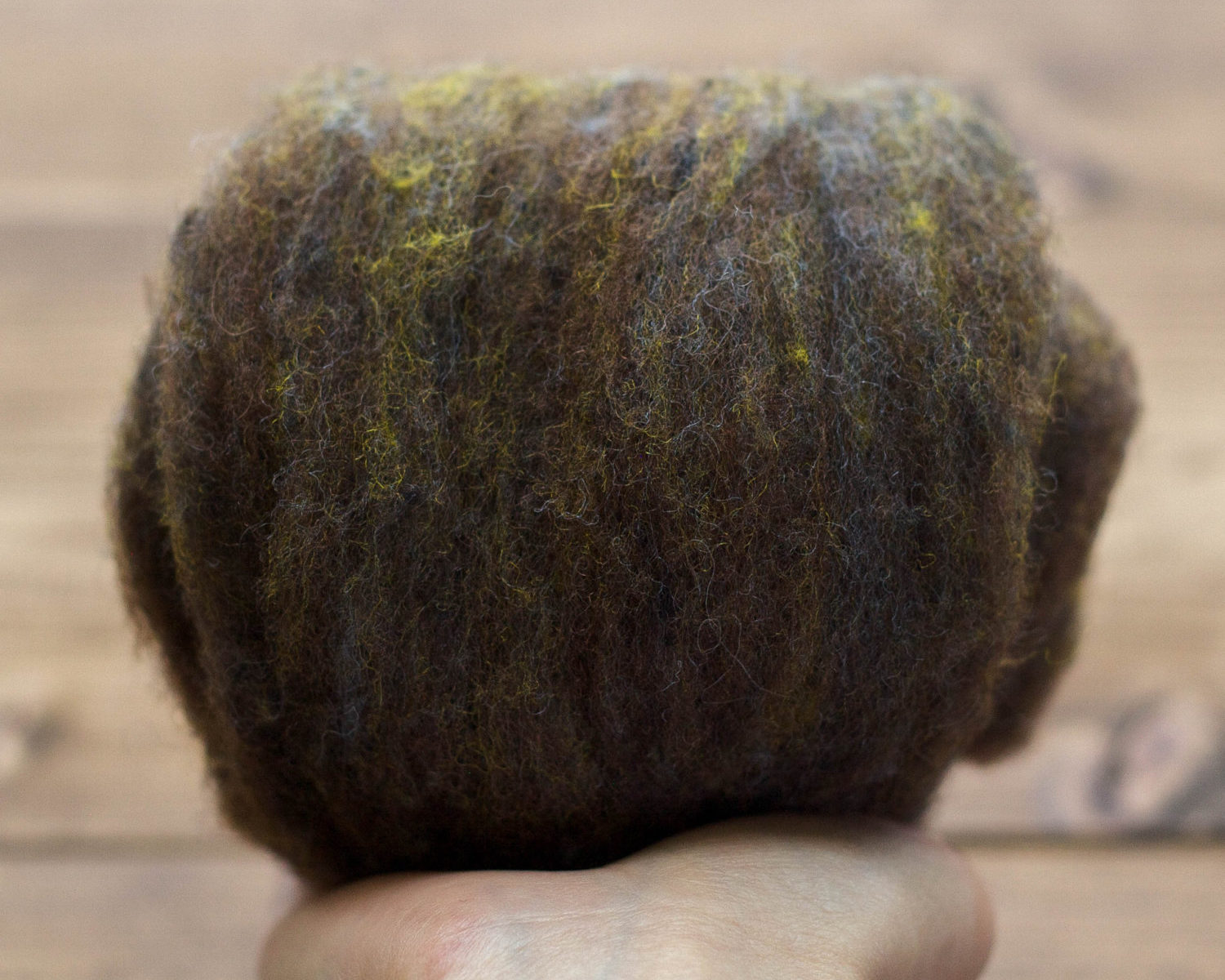 Black Walnut Needle Felting Wool, Wool Batting, Batts, Fleece, Wet Felting, Spinning, Dark Brown, Dyed Felting Wool, Fiber Art Supplies