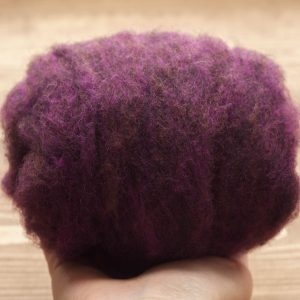 Blackberry Needle Felting Wool, Wool Batting, Batts, Wet Felting, Spinning, Dyed Felting Wool, Purple, Dark Purple, Fiber Art Supplies