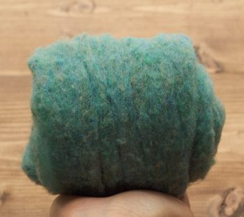 Blue Spruce Needle Felting Wool, Wool Batting, Batts, Wet Felting, Spinning, Dyed Felting Wool, Teal, Blue Green, Fiber Art Supplies