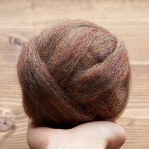 Brown Opal Wool Roving for Needle Felting, Wet Felting, Spinning, Dyed Felting Wool, Rainbow Brown, Fiber Art Supplies