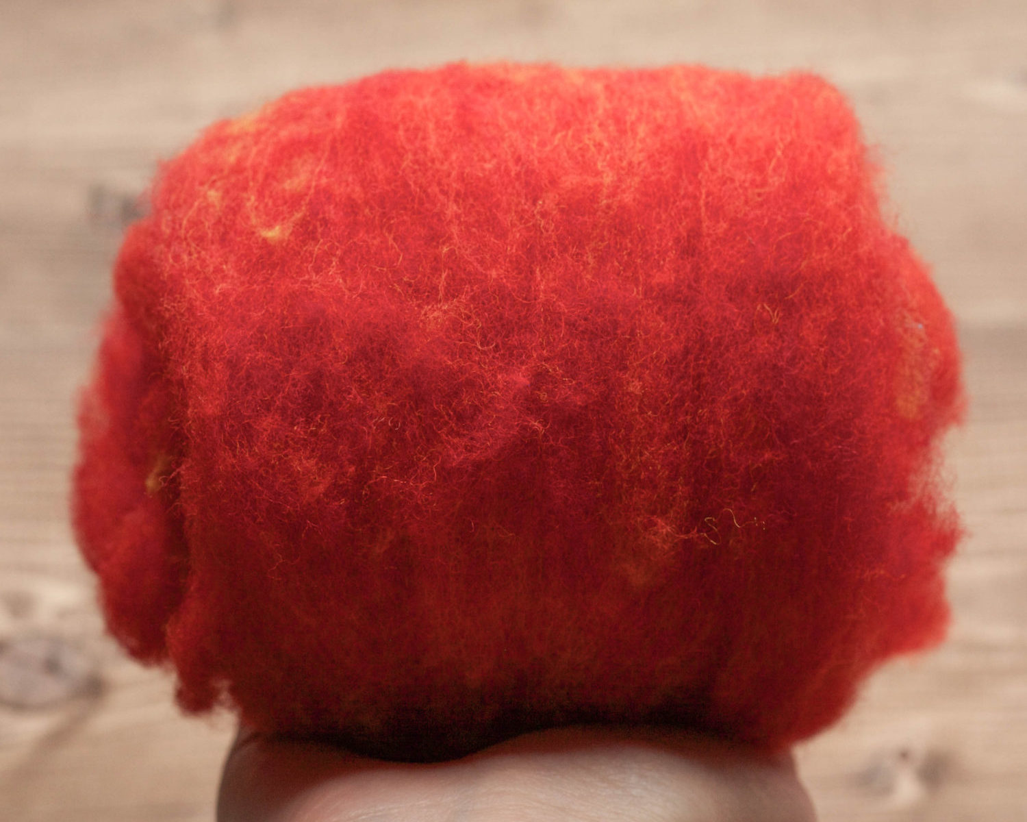 Cardinal Red Needle Felting Wool, Wool Batting, Batts, Fleece, Wet Felting, Spinning, Dyed Felting Wool, Fiber Art Supplies