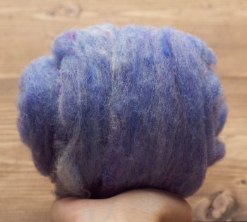Chicory Blue Needle Felting Wool, Wool Batting, Batts, Wet Felting, Spinning, Dyed Felting Wool, Ultramarine, Light Blue, Fiber Art Supplies