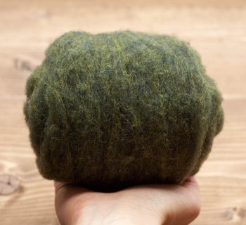 Cypress Green Needle Felting Wool, Wool Batting, Batts, Wet Felting, Spinning, Dyed Felting Wool, Green, Olive, Fiber Art Supplies