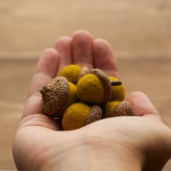Felted Wool Acorns in Mustard Yellow, Gold, Fall, Autumn, Natural Decoration, Weddings, Woodland Decor, Centerpiece, Rustic, Party Favors