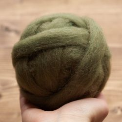 Fern Green Wool Roving for Needle Felting, Wet Felting, Spinning, Dyed Felting Wool, Fiber Art Supplies