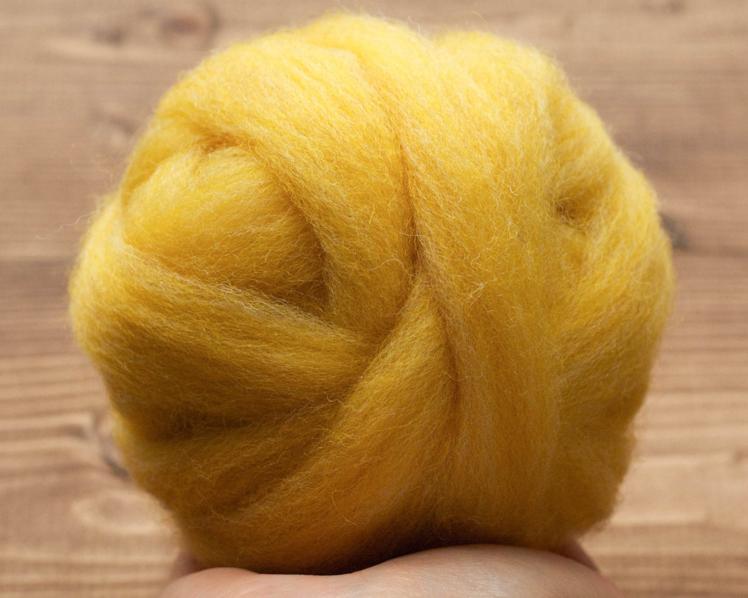 Forsythia Yellow Wool Roving for Needle Felting, Wet Felting, Spinning, Mellow Yellow, Fiber Arts Supplies