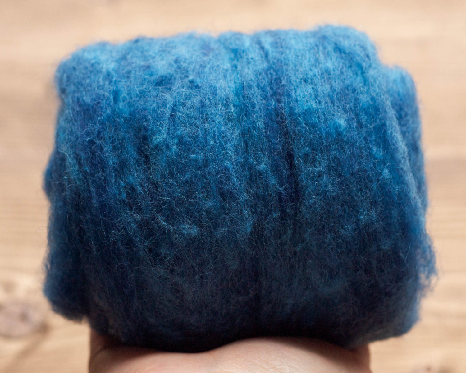 Indigo Bunting Blue Needle Felting Wool, Wool Batting, Batts, Fleece, Wet Felting, Spinning, Dyed Felting Wool, Cobalt, Fiber Art Supplies