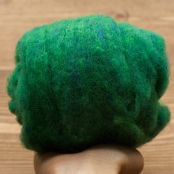 Kelp Forest Green Needle Felting Wool, Christmas Green, Wool Batting, Batts, Wet Felting, Spinning, Deep Green, Fiber Art Supplies