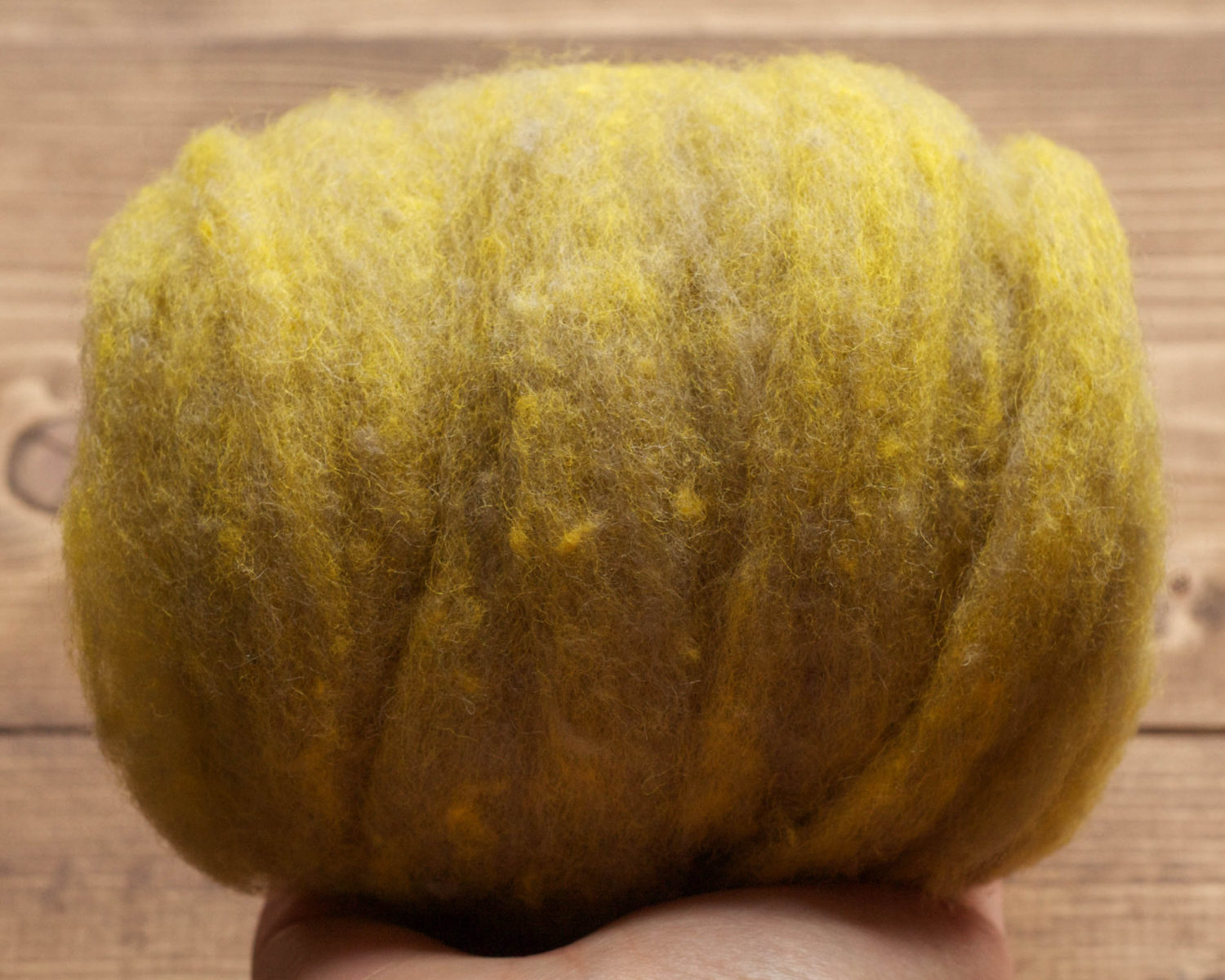 Meadow Needle Felting Wool, Wool Batting, Batts, Fleece, Wet Felting, Spinning, Dyed Felting Wool, Citron, Yellow Green, Fiber Art Supplies