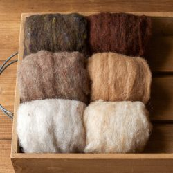 Needle Felting Wool Assortment, Batts, Fiber Sampler, Neutral, Natural Brown, Beige, Oatmeal, Sand and Soil, Wet Felting, Spinning, Supplies
