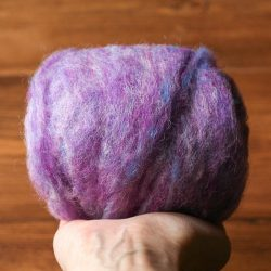 Needle Felting Wool in Periwinkle, Light Purple, Wool Batting, Batts, Fleece, Wet Felting, Spinning, Dyed Felting Wool, Fiber Art Supplies