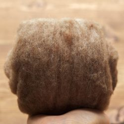 Oak Brown Needle Felting Wool, Wool Batting, Batts, Fleece, Wet Felting, Spinning, Light Brown, Grey, Dyed Felting Wool, Fiber Art Supplies