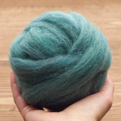 Ocean Wool Roving for Needle Felting, Wet Felting, Weaving, Spinning, Blue Green, Teal, Fiber Art Supplies, DIY