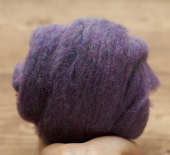 Purple Mountain Needle Felting Wool, Wool Batting, Batts, Wet Felting, Spinning, Dyed Felting Wool, Dark Purple, Fiber Art Supplies