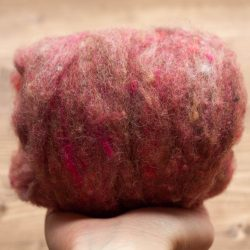 Rosewood Needle Felting Wool, Wool Batting, Batts, Fleece, Wet Felting, Spinning, Dyed Felting Wool, Fiber Art Supplies, Dusty Rose, Pink