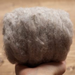 Storm Cloud Grey Needle Felting Wool, Wool Batting, Batts, Wet Felting, Spinning, Dyed Felting Wool, Gray, Medium Gray, Fiber Art Supplies