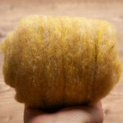 Wool Batt in Wheat Field, Yellow, Needle Felting Wool, Wool Batting, Wet Felting, Spinning, Dyed Wool, Straw, Gold, Fiber Art Supplies