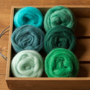 Wool Roving for Needle Felting, Assortment, Fiber Sampler, Tide Pool, Blue, Green, Wool Rove, Felting Wool, Craft Supplies, DIY