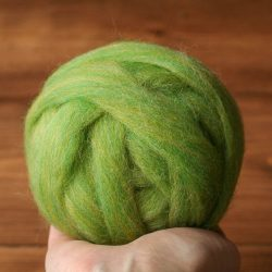Wool Roving for Needle Felting in Green Apple, Spring Green, Grass, Lime, Kiwi, Wet Felting, Spinning, Chunky Yarn, DIY