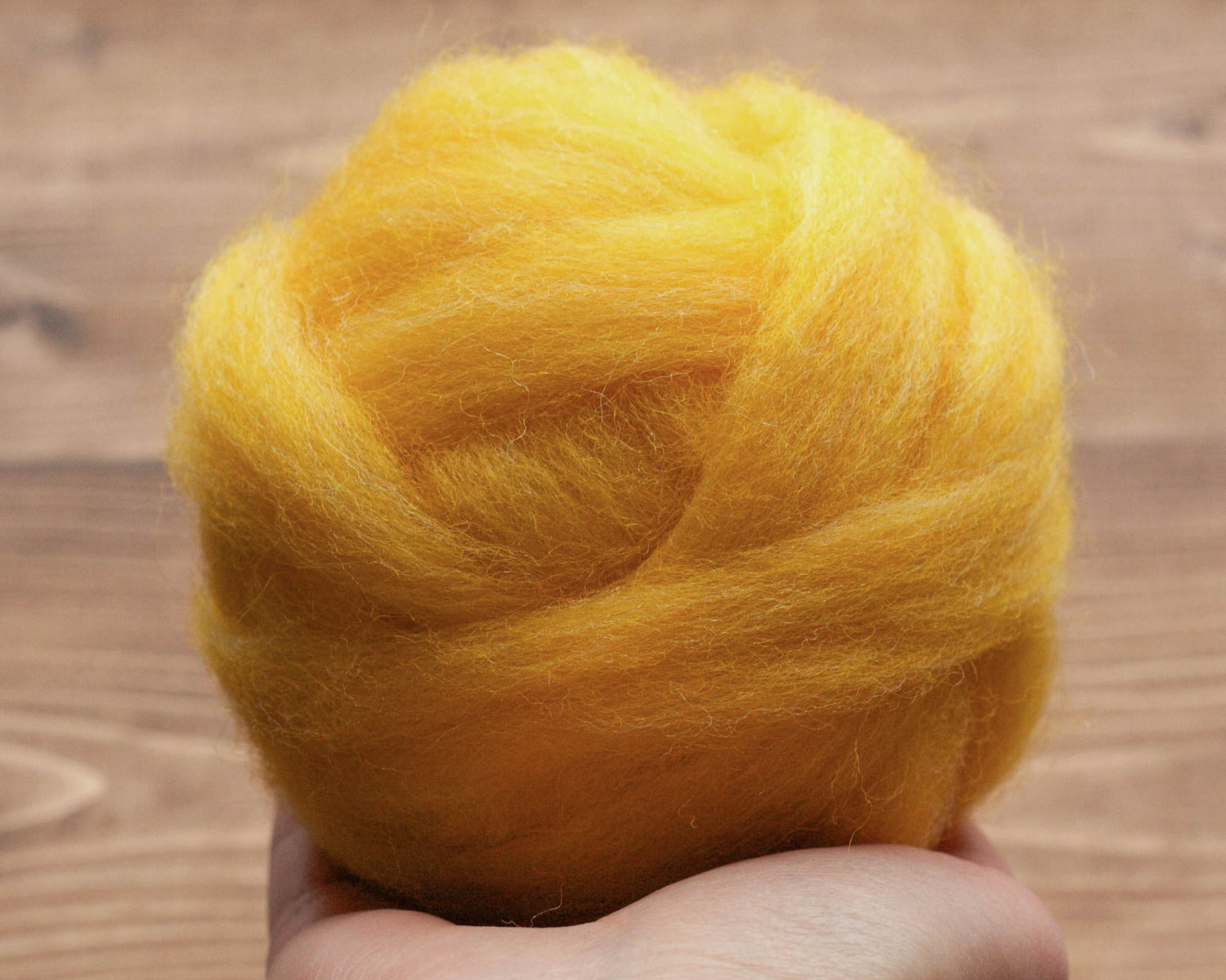 Wool Roving in Dandelion Yellow for Needle Felting, Wet Felting, Spinning, Dyed Felting Wool, Fiber Art Supplies