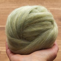Wool Roving Supply for Needle Felting, Sage Green, Spring Green, Wet Felting, Spinning, Dyed Felting Wool, Light Green, Fiber Art Supplies
